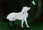A friend in the forest - Background practice- by Tenshin4ever