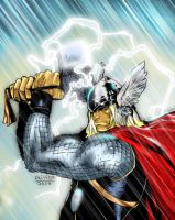 Coipel's Thor colors version by JoshTempleton