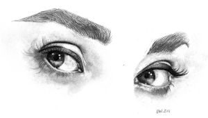 Audrey Hepburn eyes by seabreeze-doodles