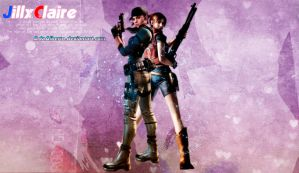 Jill and Claire Wallpaper by AdaAlberto