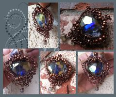 Dark Heart of a Fairy Pendant by tanyquil