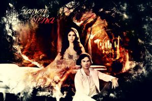 Damon and Elena by Samara-Syberia