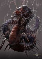 giant centipede - gyromancer by kunkka