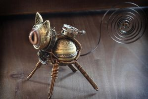 Little Steampunk cat sculpture. by CatherinetteRings