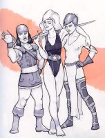 Raven Hanging out with Friends by warriorneedsfood