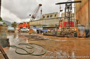 Boat workshop pano HDR III by TheSoftCollision