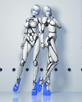 Fembot's Together 'as featured in...' by DevilishlyCreative