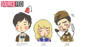 SourceFed, Doctor Who mode - activated! by SillyRu