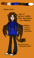 .:OLD:. Lion reference sheet by lionpants99