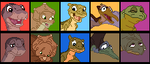 Land Before Time Icon Set by RockingScorpion