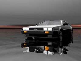 Double Delorean by oldblueford