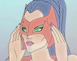 Catra Closeup Colored by CosmicFalcon-70