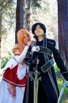 SAO- Asuna and Kirito by Rose-Curel