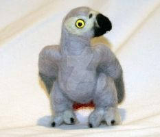 Needle Felted African Grey III by The-GoblinQueen