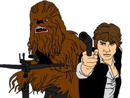 Chewie and Hans by Grim-Heaper