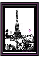 tour eiffel maryse 50x70 by AUDREYASTORG