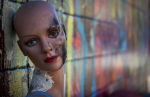 old mannequin on street by crag137