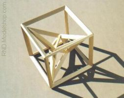 Stellated Tetrahedron w Cube 2 by RNDmodels