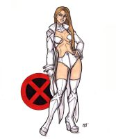 New X-men - Emma Frost by CrimsonArtz