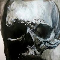 Skull Painting by urtkayart
