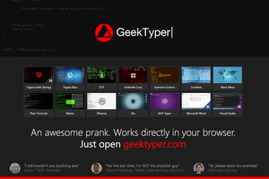 [web-app] GeekTyper+ - An Awesome Hacking Prank by fediaFedia