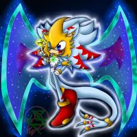 Chaos God Sonic [Re-Drawn] by SonicSonic1