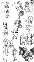 More HTTYD Sketches by marbri