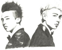 GD and T.O.P. by Snowboardleopard