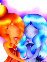 Flame Princess and Blue Flame Princess by OriChes