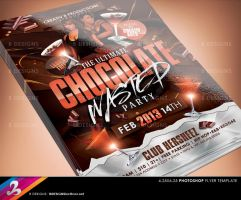 Chocolate Wasted Party Flyer Template by AnotherBcreation