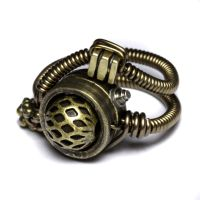 Steampunk gunmetal ring by CatherinetteRings