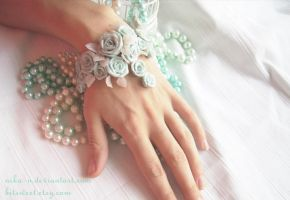Winter Roses bracelet II by Nika-N