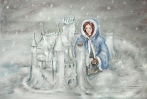 Sansa's Snowcastle by libellchen