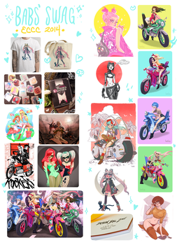 Babs Swag for ECCC 2014 by babsdraws