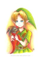 -- Ocarina of Time: Link and Volvagia -- by Kurama-chan