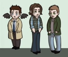 021914 Supernatural Chibis by GillyPerkyGoth