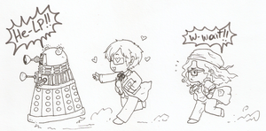 Chasing Daleks by HuronGirl