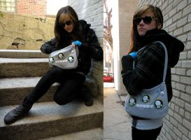 Triclops Monster Bag by loveandasandwich