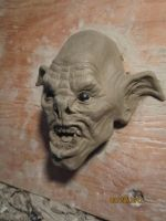 Goblin head WIP by TomsCreatures