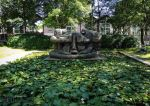 Demeure X sculpture within pond by EUtouring