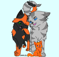 Jayfeather Poppyfrosts Family by Paintpaw
