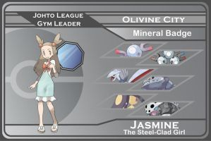 Johto Gym Leader 6 - Jasmine by JohnRiddle20