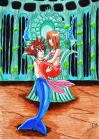 Sora and Kairi in Atlantica by SailorMiha