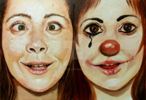 Self-portrait clown by SaraMeloni