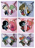 Kissing Keychains by neofox