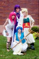 Magi Cosplay: Morgiana, Aladdin, Alibaba, SInbad by firecloak
