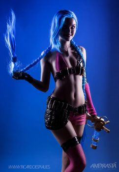 Jinx cosplay from League of Legends by xAndrastax
