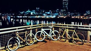bikes and nightlights by phamlee