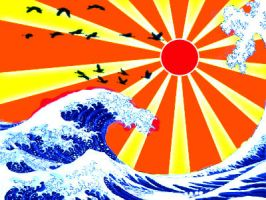 Japanese wave by Vilchis