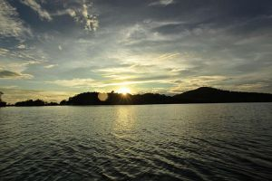 sunset at near east indonesia by banditas